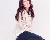Bohemian Knitted Cardigan - Cotton Cozy Knit - Woman Sweater - G-019