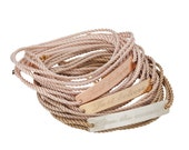 Personalized Cord wrap bracelet. Available in goldfilled/ silver/ rose goldfilled. Personal engraving. Hand made.