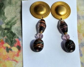 Dangle Earrings - Southwest Flair - Shades of Purple