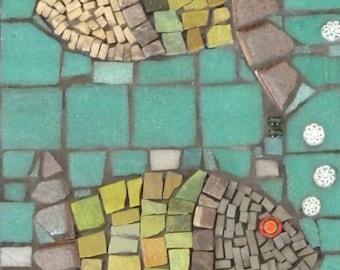 """Mosaic Art """"Fishy Business"""""""
