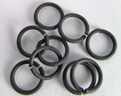 20 Matte Black 8mm Open Jump Rings Mt211