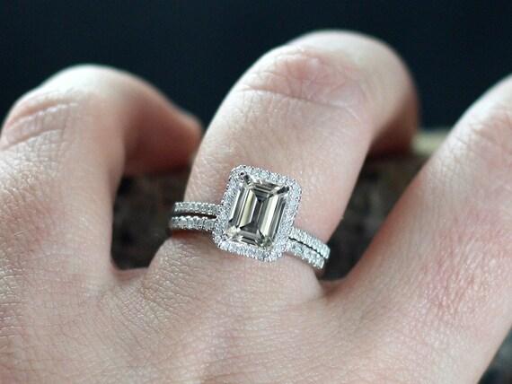 white topaz engagement ring halo set ione medio band