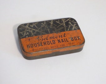 Belmont Household Nail Tin