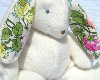 Organic Easter Bunny Rabbit, Sustainable Stuffed Toy, GOTS Certified Organic Cotton, Alpaca Stuffing