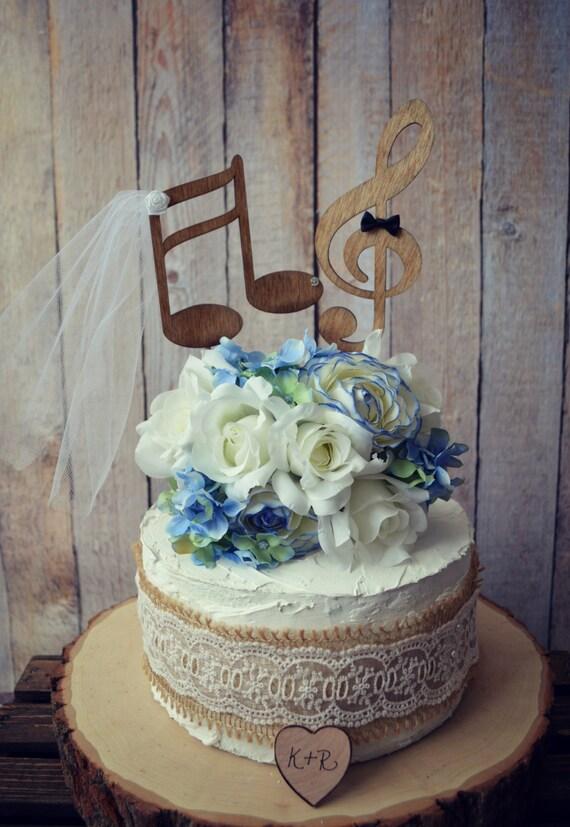 Music Lover Wedding Cake Topper Music Notes Musician Wedding