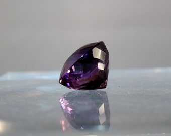 Lapidary Jewelry Supply Gem Fine Round Cut Natural Fine Amethyst Quartz 18.18 Carat Loose Gemstone Deep Purple Color DanPickedMinerals