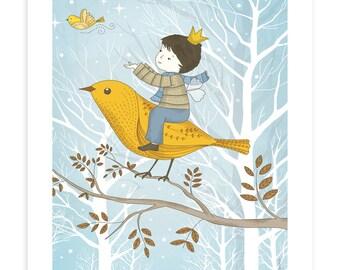 Children's illustration art - The Prince of Winter