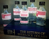ONE Poison Bottle | CHOICE of Label | Medical / Medicine | Pharmaceutical | Steampunk | Display Prop | Creepy Laboratory | Victorian Gothic