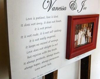 Wedding Gift Etiquette For Employees : 13x22 Wedding Gift Picture Corinthians Poem Religous Bridal Shower ...
