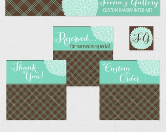 Etsy Banner Avatar Set For Photographers and Small Business, Etsy Shop Set, Premade Etsy Banner, Etsy Marketing Set, Etsy Banner and Avatar