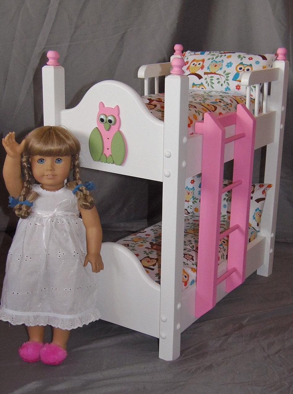 Doll Bunk Bed Fits American Girl Doll And 18 Inch Dolls With