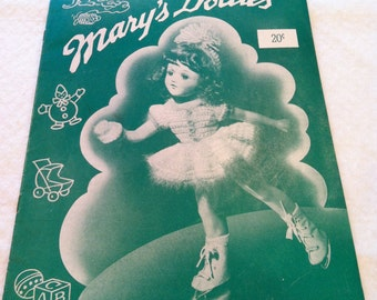 Mary Hoyer Mary's Dollies Crochet and Knitting Pattern Booklets