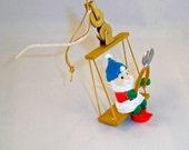 ADDITIONAL 10% OFF...SALE  1991 Elf Worker on Conveyor Swing Ornament Rennoc