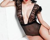 Noella eyelash lace bodysuit