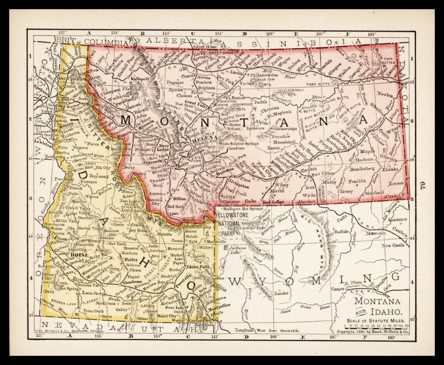 buy rand mcnally maps with Small Montana Map Idaho Map 1900s Wall on Oklahoma map likewise Timelines as well Albertaphysicalmap additionally Arizona Map besides Small Australia Map Of Australia Old.