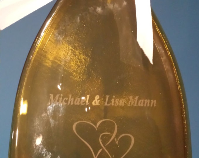 Personalized Melted Wine Bottles