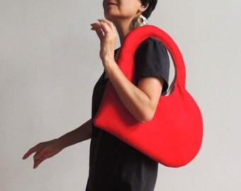 I Heart My Heart Bag - Design handbag, iPad bag, Kindle bag, Wool Felt Bag