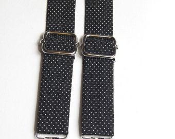 Black Polka Dot Suspenders, black suspenders, black braces, boy's suspenders, men's suspenders, black dot braces, men's accessories, black