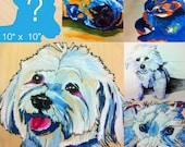 """10"""" x 10"""" Custom Color Pet Portraits"""