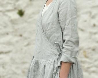 Linen Wrap Dress / Coat