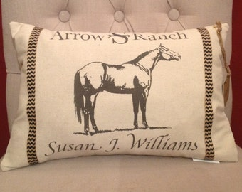 Personalized Ranch, Farm or Horse Pillow