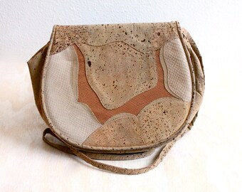 Vintage Damaged Stuart Weitzman Cork Handbag