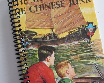 HARDY BOYS Mystery recycled upcycled journal notebook The Mystery of the Chinese Junk