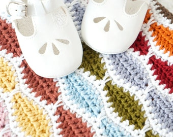 Blanket Pattern, Baby Shawl, Girl Boy, Including Multiples, Drops Muskat, Double Knit, Cotton Yarn, Lounge Throw, Ripple Modern, Home Gift