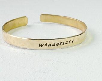 SALE Brass Wanderlust Cuff