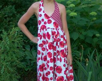 Halter top Rose Dress sizes 2T-6