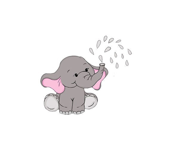 Baby Elephant Clip Art Nursery / Baby Shower Art by 641Digital