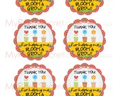 "DIY Printable Teacher Appreciation ""Thank You For Helping Me to Bloom & Grow"" Gift Tags"