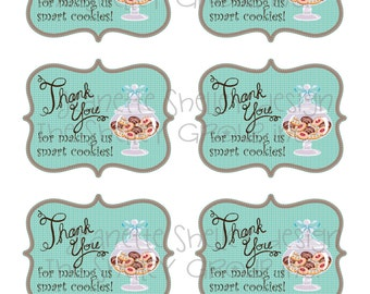 "DIY Printable Teacher Appreciation ""Smart Cookies"" Gift Tags"