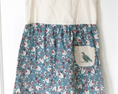 Upcycled Playdate Dress - The Bird - 4T/5T