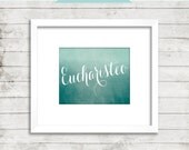 Eucharisteo - Ombre - One Thousand Gifts - Ann Voskamp - Thankful - Printable Home Decor Artwork - Print it Yourself JPG - Instant Download