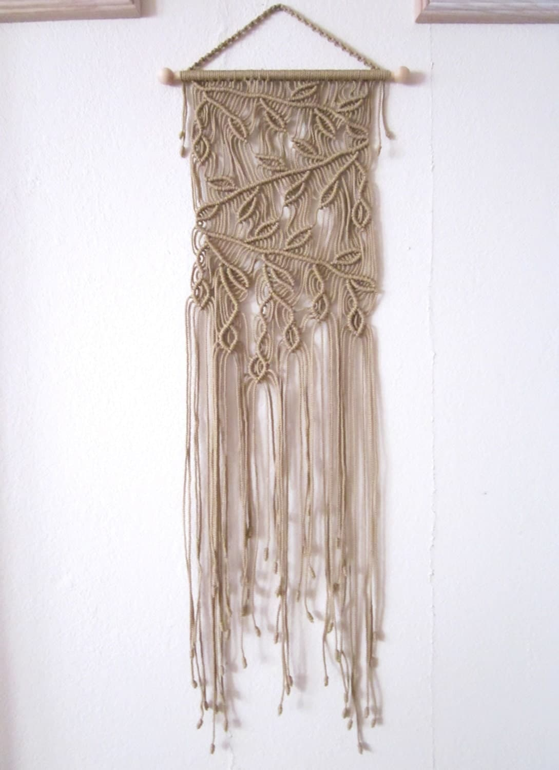 Handmade macrame wall handing branches macrame home decor for Home decor wall hanging