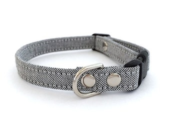 SALE Chic Grey Cat Collar (Small Size)