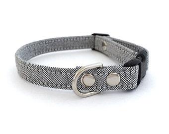SALE Chic Grey Dog Cat Collar