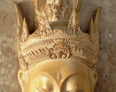 RESERVED.Stunning hand carved wooden mask from Bali. Tilem gallery Mas. World renowned carver. Sita carving