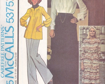 1970s Shirt & Skirt Pattern McCalls 5375 Size 12 Uncut