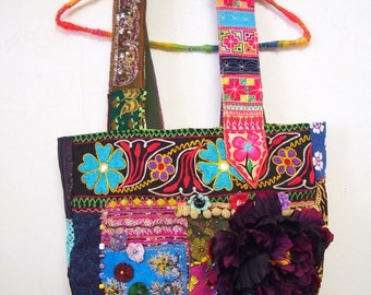 SALE 30% off Bohemian Vintage Patchwork Tote bag