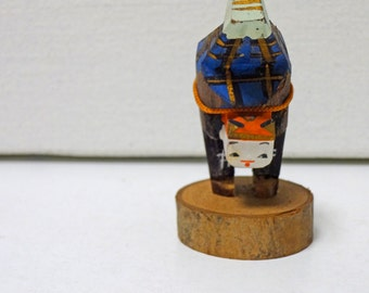 2.1in Vintage Japanese Miniature Wood Handstand Doll