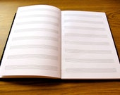 Build Your Own Custom Music Journal, Personalized Musician Gift Staff Paper Composer Songwriter Manuscript Composition Musician Guest Book