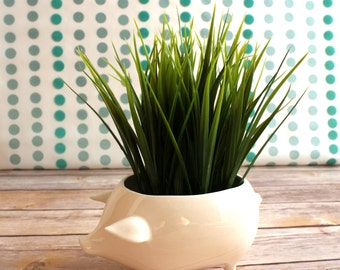 Pig Planter - Handmade Planter - Midcentury Modern Design - Vintage Pig - Indoor Planter - Great gift for gardeners / indoor gardening