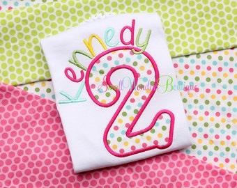 Polka Dot Birthday Embroidered Shirt - 2nd Birthday Shirt - Polka Dot Birthday - Spring Birthday - Cupcake Birthday - Fun Dots Birthday