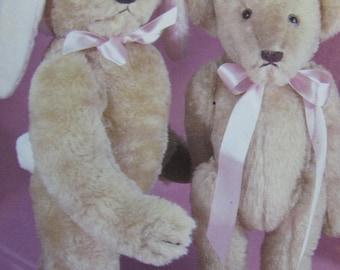 Teddy Bear Postcard  -  Easter Bunny Bears - Vintage 1980s