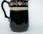 Shabby vintage water jug roses design pitcher