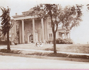 "Ca 1920s ""Stately Mansion"" Real Photo Postcard - 1495"