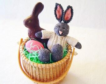 Knit Rabbit - Hand Knitted Toy - Stuffed Animal - Hand Knit Soft Toy - Kids Toy - Easter Toy - Knit Bunny - Knit Stuffed Animal - BRADAN