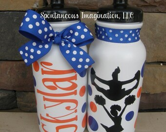 Personalized Sport Water Bottle- Cheerleading Gifts- Cheer Gifts